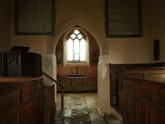 Box pews at Widford St Oswald, Oxfordshire