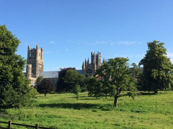 Ely Cathedral seen across the Dean's Meadow.